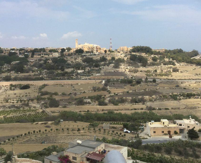 Un tipico paesaggio di malta
